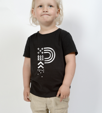 positivus-17-black-children-s-t-shirt