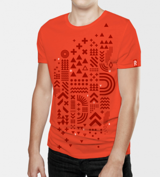 positivus-17-sarkans-unisex-t-krekls-nr-2